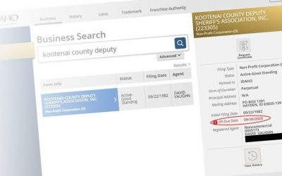 Kootenai County Deputy Sheriff's Association – Campaign Finance Woes