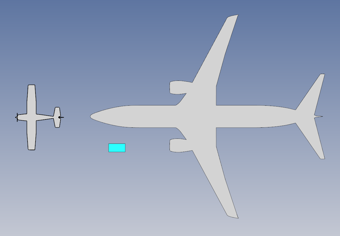 Cessna 172 and Boeing 737-800 compared to Starlink